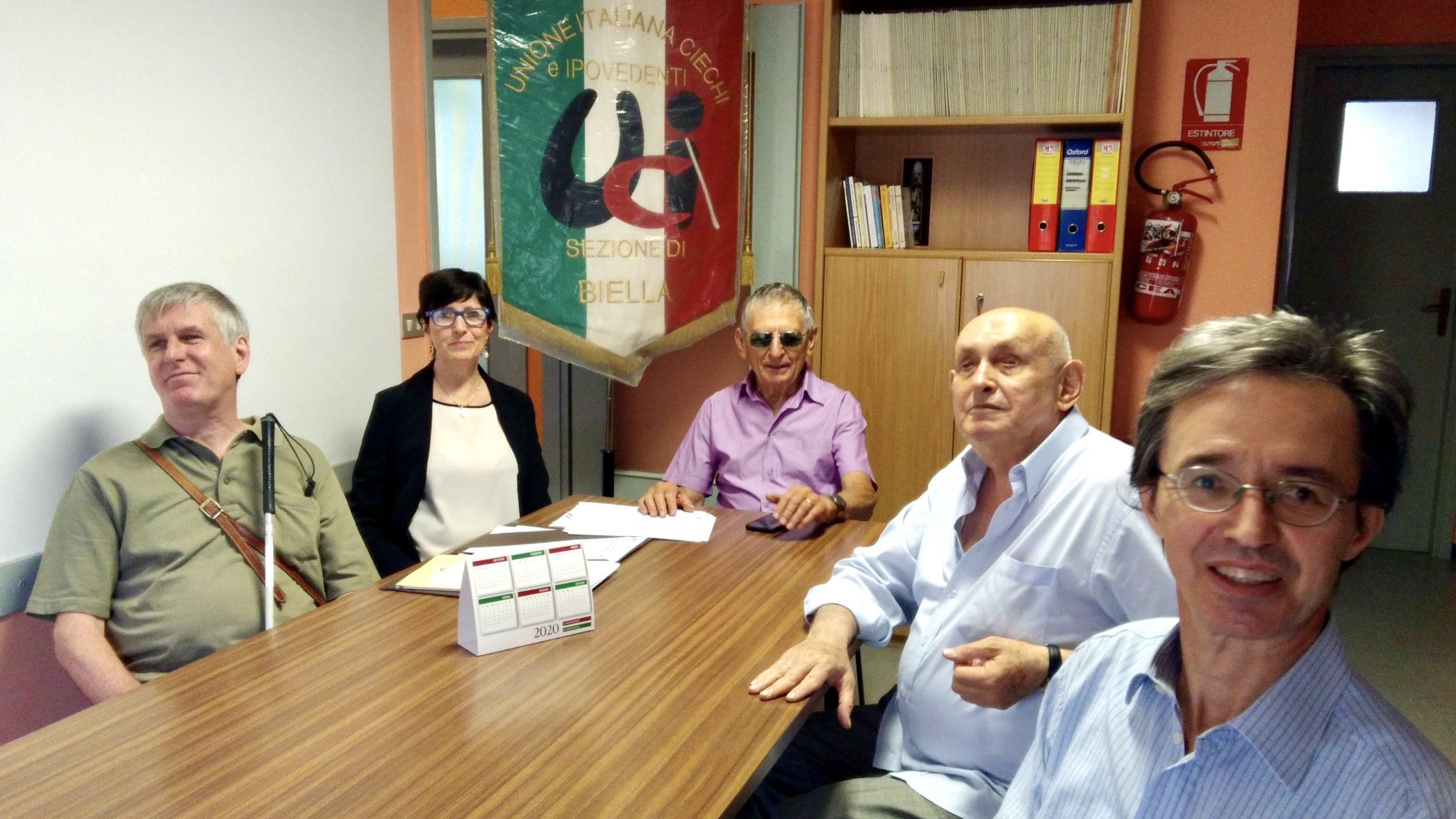 Il nuovo consiglio direttivo della sezione UICI di Biella